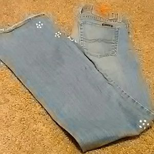 Lucky's Lil Maggie jeans with flower design